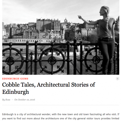 Cobble Tales in the media Hidden Edinburgh