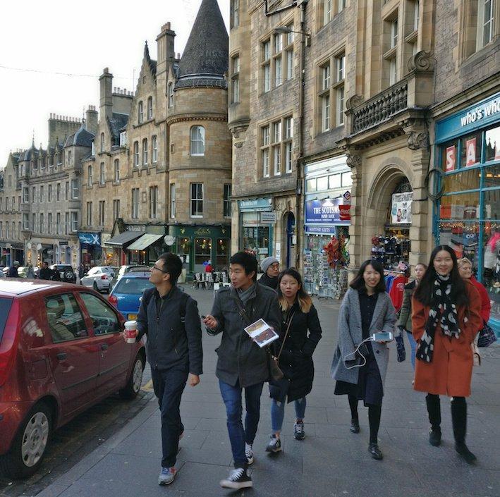Mandarin Edinburgh Architecture Tour Group walking