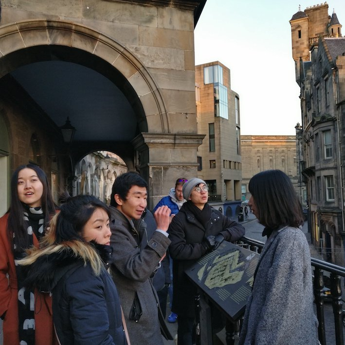 Mandarin Edinburgh Architecture Tour Terrace