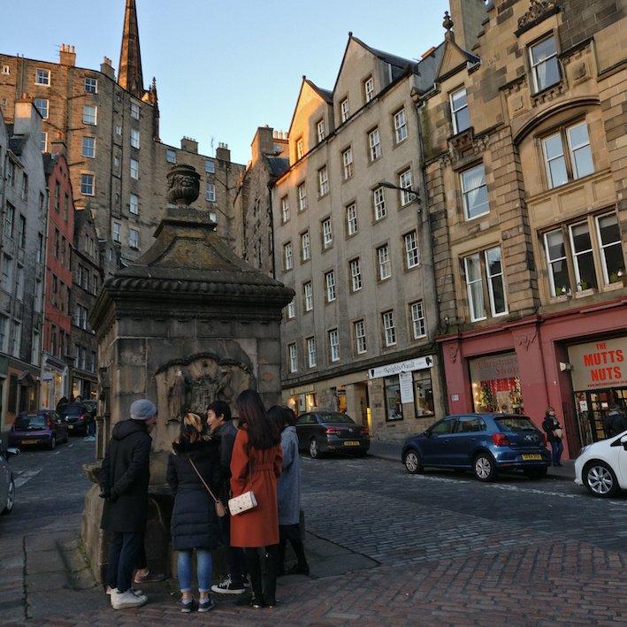 Mandarin Edinburgh Architecture Tour Water Fountain