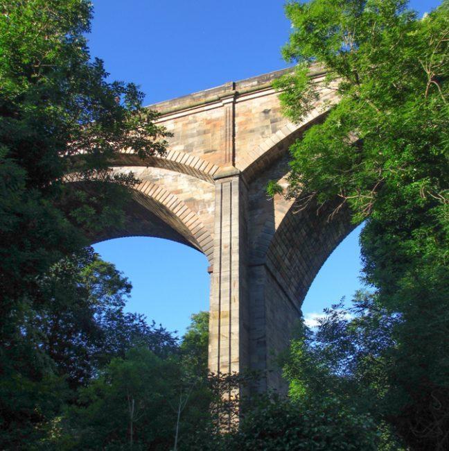 Edinburgh Dean Bridge through the trees | | Group Architecture Tours