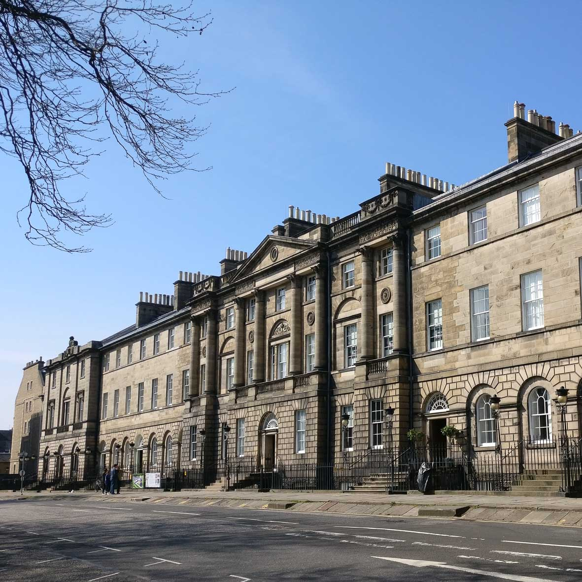 Charlotte Square North Facade | Scotland First Minister House | Bute House | Edinburgh New Town Architecture Tour | Robert Adam | Georgian Architecture | Sandstone Architecture
