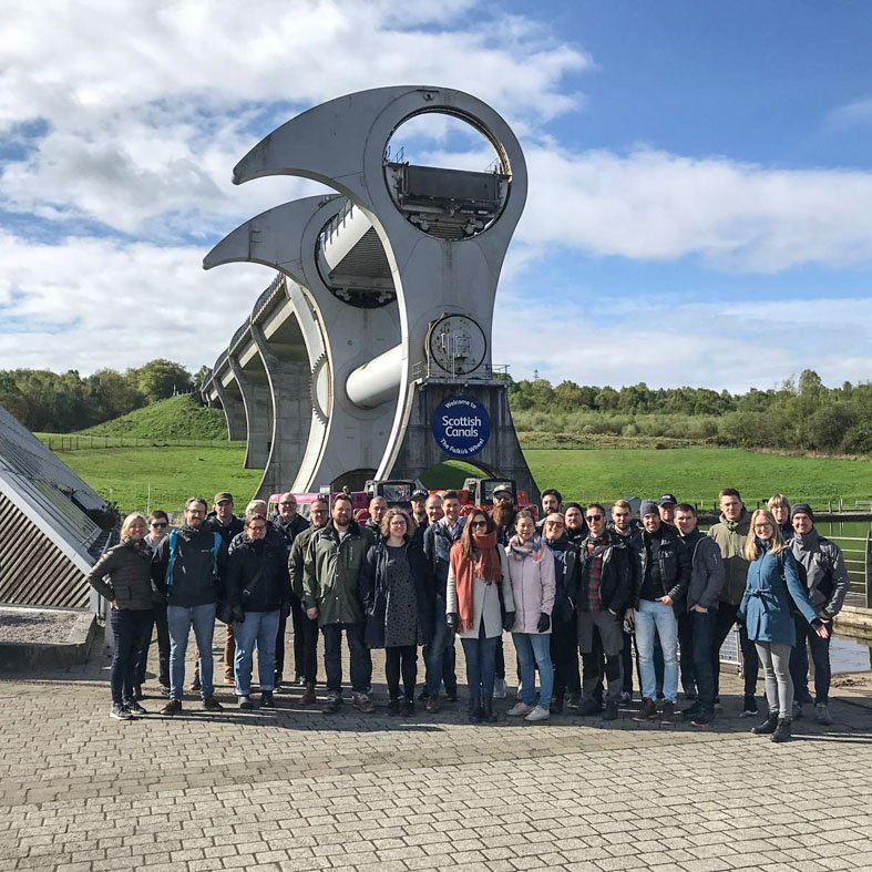 Engineer study trip to Falkirk Wheel Scotland