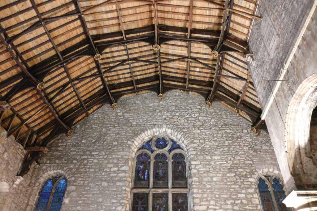 Edinburgh Buildings: Tron Kirk Hammerbeam ceiling