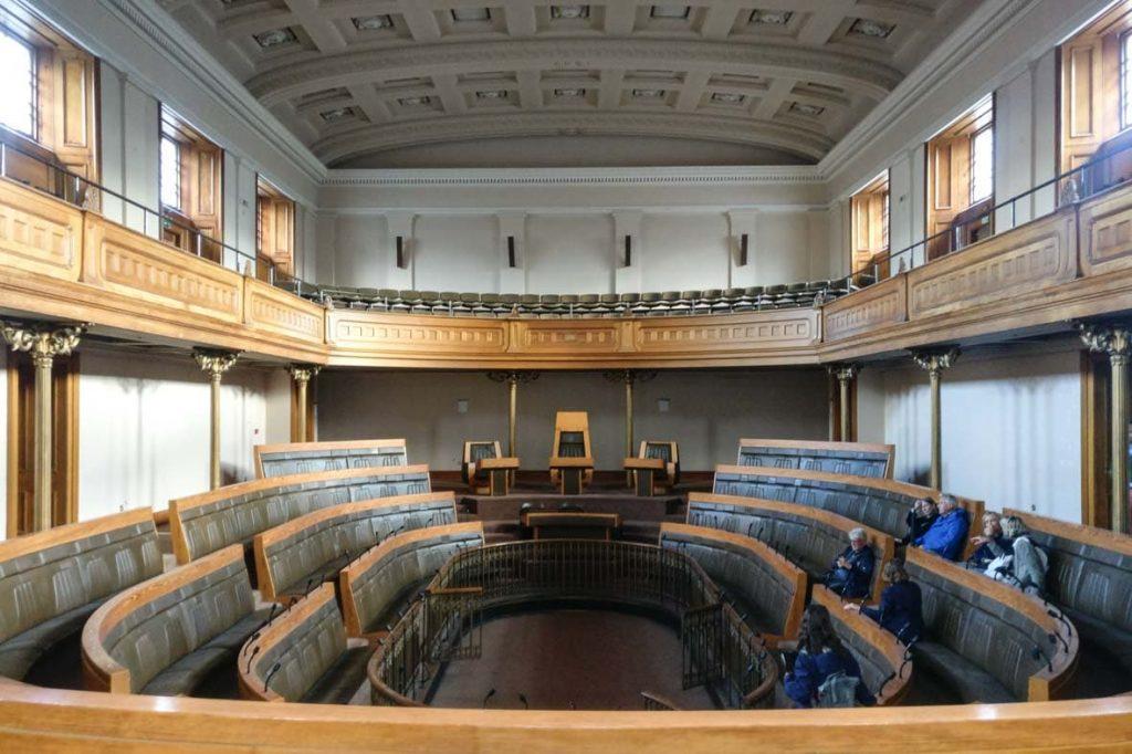 Debating Chamber of the Old Royal High School, one of the most beautiful Greek Revival buildings in Edinburgh