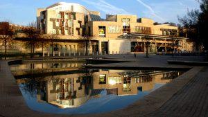 Ponds_Enric Miralles_Scottish Parliament Building_Edinburgh Walking Tour