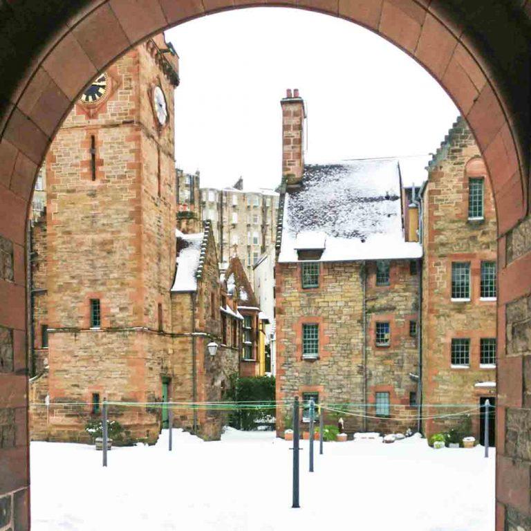 Well Court seen on Edinburgh Dean Village audio tour