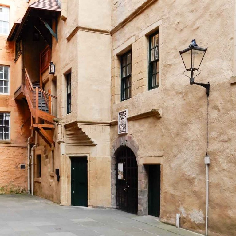 Riddle's Close seen on Edinburgh Old Town audio tour