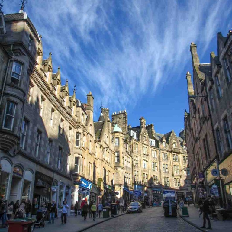 Cockburn Street seen on Edinburgh Old Town audio tour