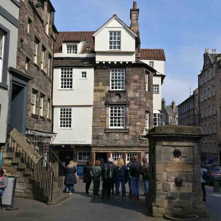 John Knox House seen on Edinburgh Old Town audio tour