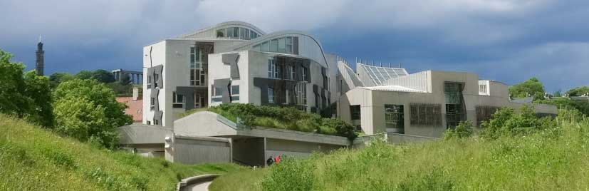 Edinburgh Audio Tours in the Old Town feature the Scottish Parliament